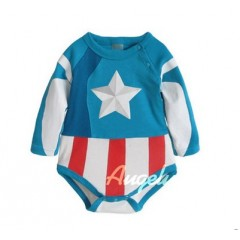 Captain America's Rompers (For 3~24 months)
