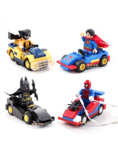 Marvel dc heroes lego with vehicles wolverine - Batman spiderman lego ...