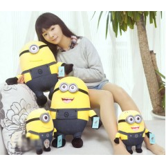 Minion Plush Toys 3D Eyes Multiple Sizes